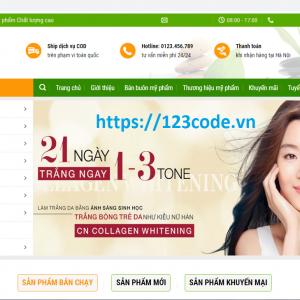 Source code website bán hàng mỹ phẩm wordpress chuẩn seo