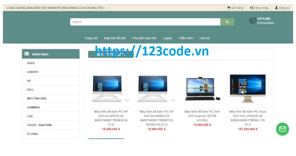 Source code đề tài web bán hàng thương mại điện tử php thuần có báo cáo