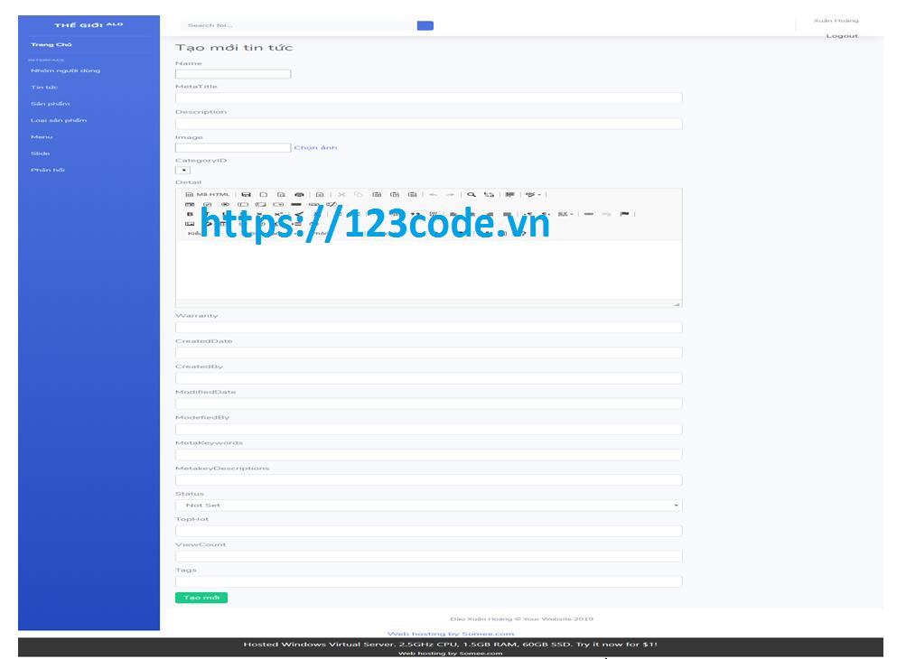 Tải source code đồ án website bán hàng điện thoại asp.net mvc full báo cáo siêu hay