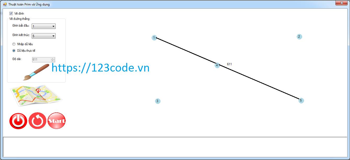 Source code Tìm đường đi ngắn nhất đi qua các điểm đã chọn c#