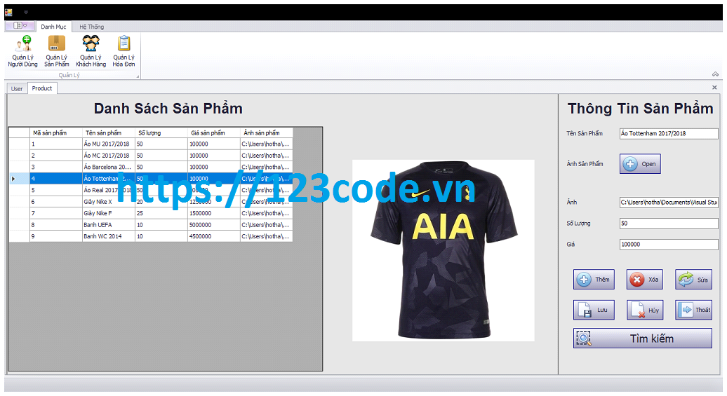 Báo cáo kèm source code đồ án quản lý bán hàng viết bằng c#