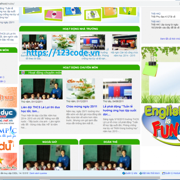 Tải miễn phí source code website trường trung học code Nukeviet