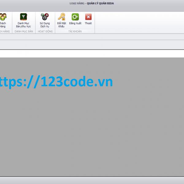 Tải source code phần mềm quản lý quán bida kết nối sql có báo cáo
