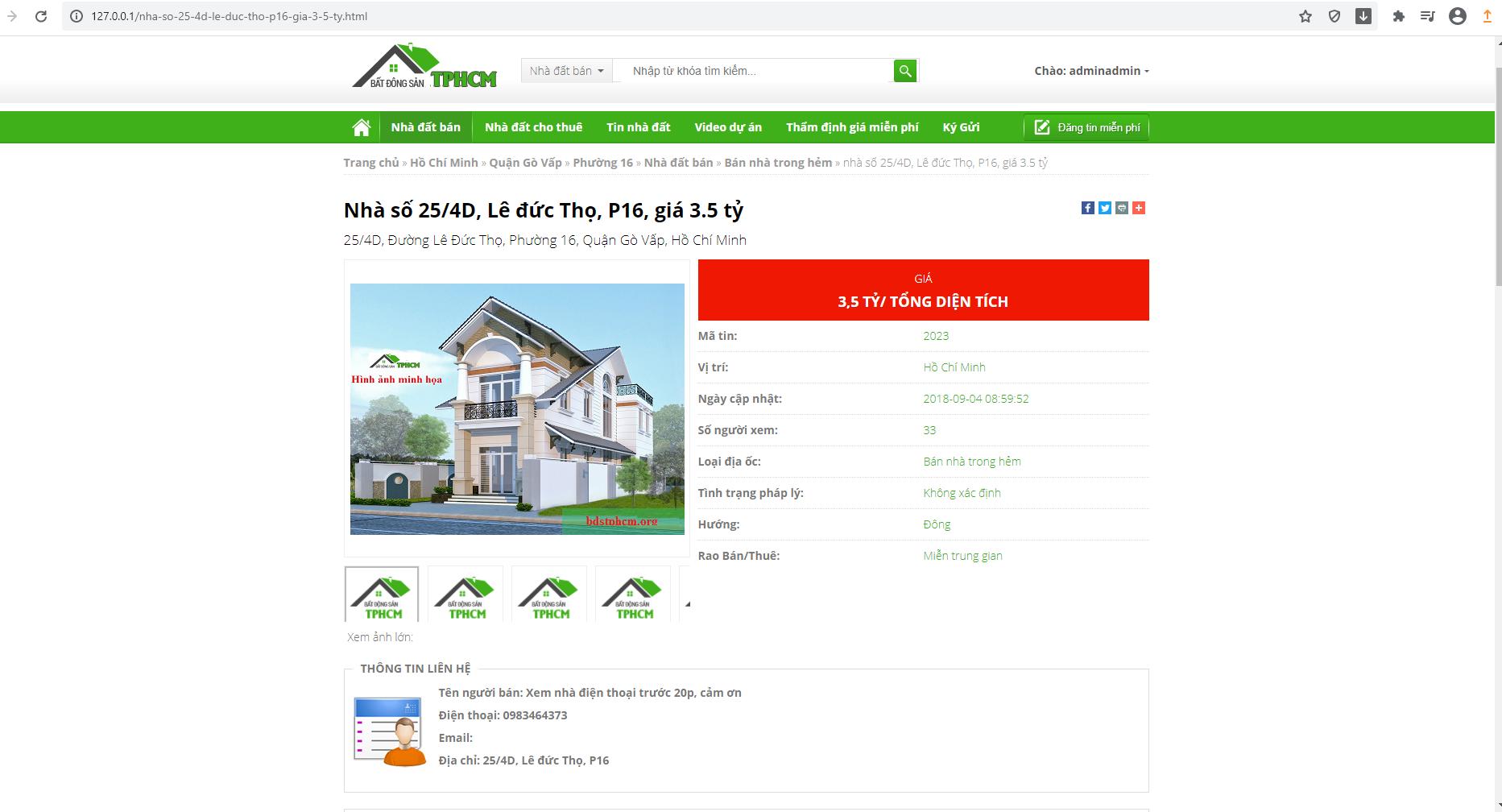 Code website bất động sản viết bằng php thuần full chức năng