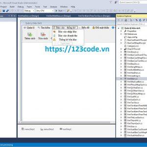Báo cáo kèm code quản lý hiệu sách c# full chức năng