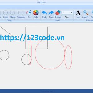 Code đồ họa máy tính paint c# giao diện DotNetBar