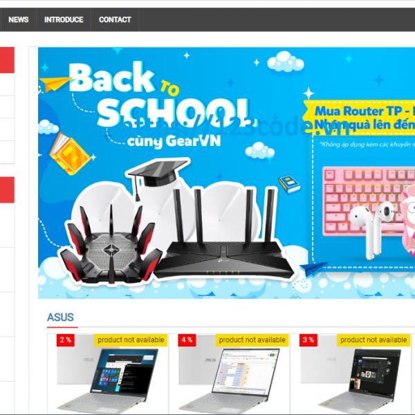 Code website bán hàng thương mại điện tử php thuần kèm báo cáo