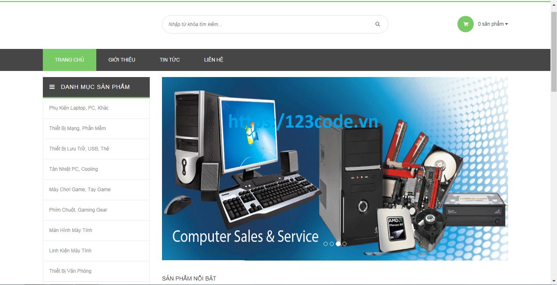 Code website bán máy tính php thuần - mysql full chức năng