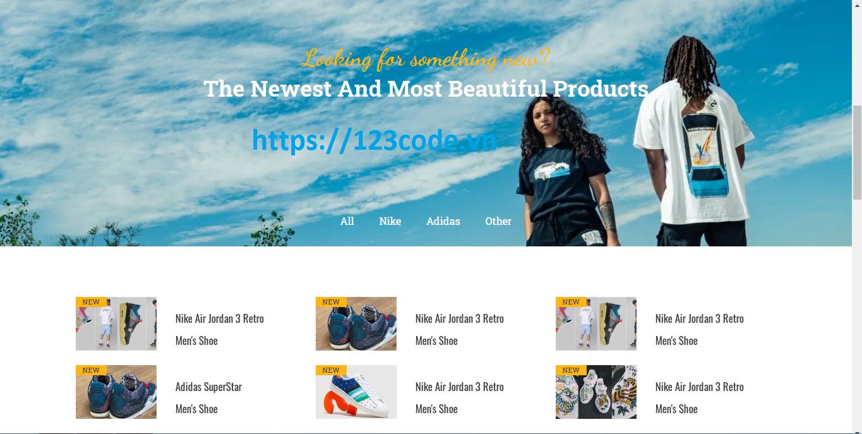 Tải code website bán hàng html - css miễn phí