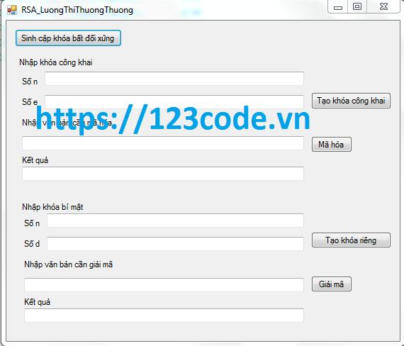 Tải miễn phí source code c# mã hóa RSA