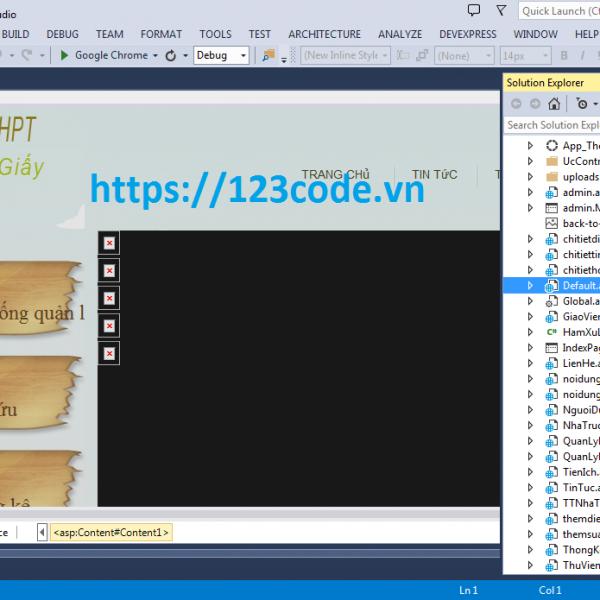 Website quản lý điểm trường THPT ASP.NET có báo cáo