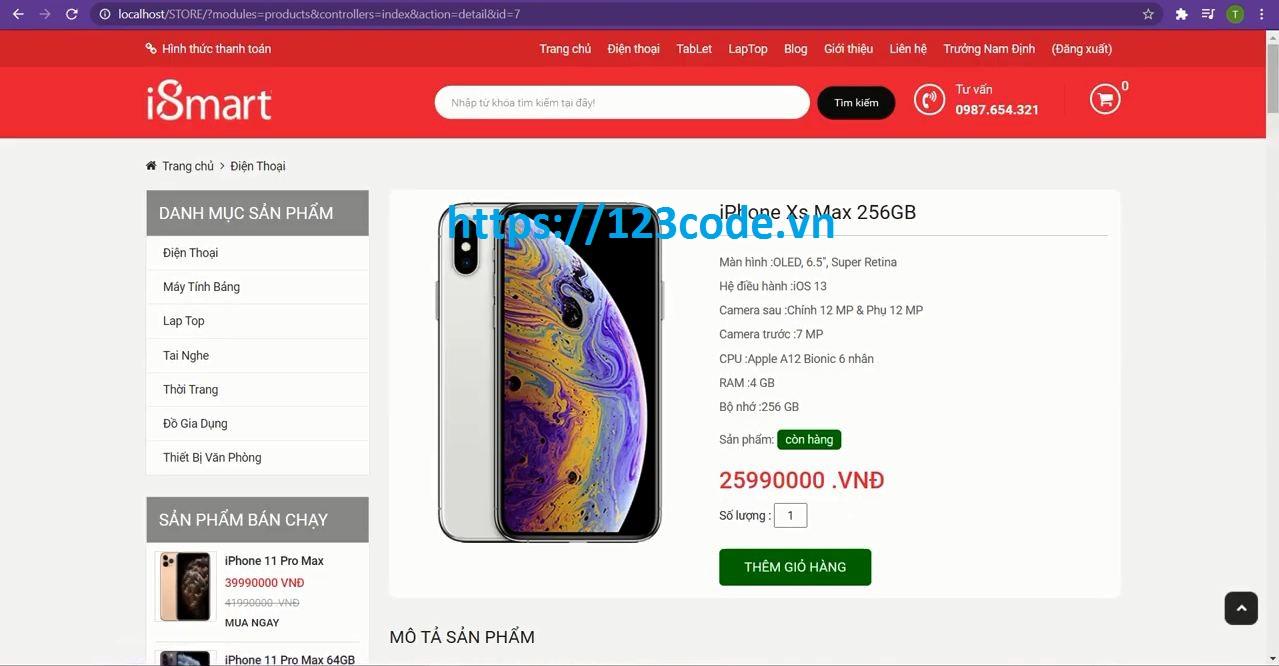 chia sẻ miễn phí code php website bán hàng điện thoại full chức năng