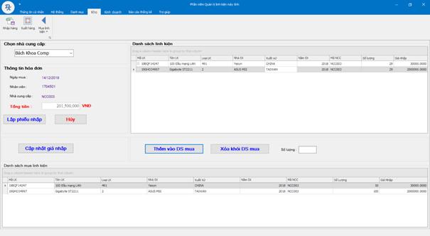 Lập trình windown phần mềm quản lý bán hàng máy tính code c# có báo cáo