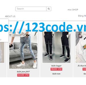 Share source code website bán hàng quần áo php thuần có báo cáo