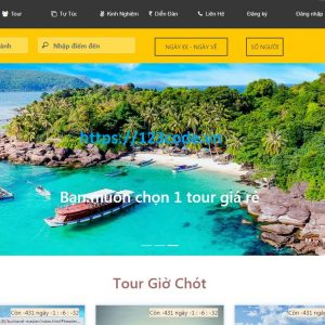 Share template website đặt tour du lịch code html - css - js