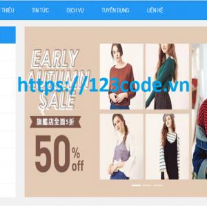 Source code website shop bán hàng thời trang nữ php thuần có báo cáo