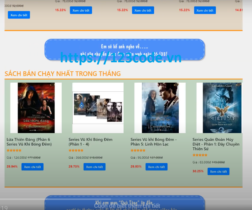 share miễn phí source code website bán sách online php thuần
