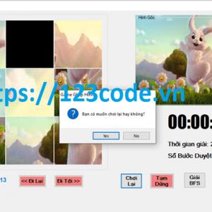 Đồ án môn trí tuệ nhân tạo code game xếp hình c# có báo cáo