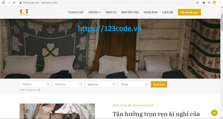 Chia sẻ source code website đặt phòng khách sạn php thuần full chức năng