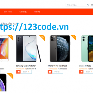 Luận văn tốt nghiệp website bán hàng điện thoại php laravel có báo cáo
