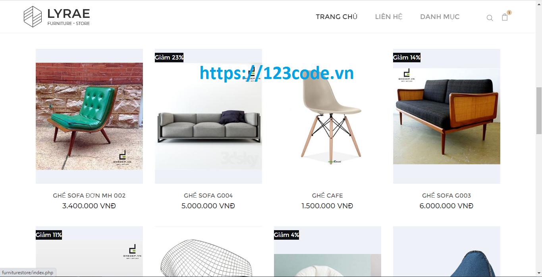 Share source code website bán hàng nội thất php mysql full chức năng