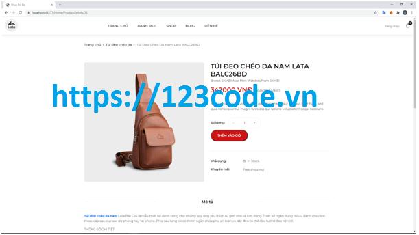 Souce code ASP .NET MVC 5 cho website bán hàng (bán đồ da)