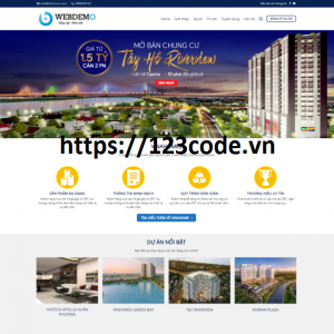 Tải miễn phí source code theme website bất động sản wordpress