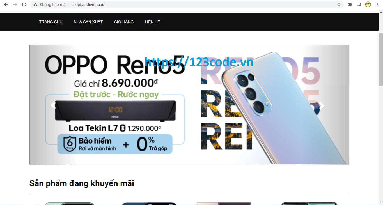 Tải miễn phí website bán hàng online viết bằng php thuần full code siêu hay