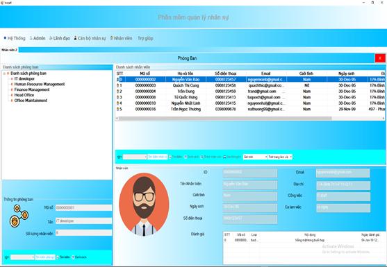 Chia sẻ đề tài phần mềm quản lý nhân sự code c# full chức năng có báo cáo