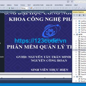 Share code đề tài phần mềm quản lý nhà sách vb.net ( Công nghệ phần mềm )