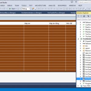 Share code đề tài phần mềm quản lý thi trắc nghiệm c# kết nối sql có báo cáo