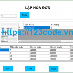 Share code hệ thống quản lý phòng mạch tư c# sql có báo cáo