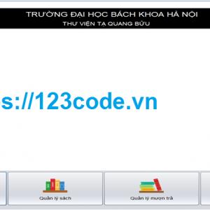 Share code phần mềm quản lý thư viện viết bằng java có báo cáo