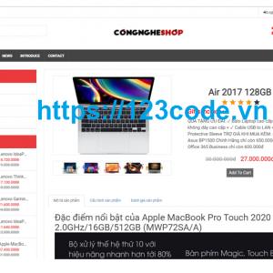 Share code website bán máy tính php thuần có báo cáo