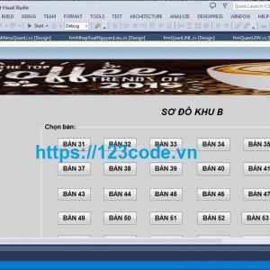 Share miễn phí source code phần mềm quản lý quán cà phê c# sql