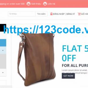 Báo cáo cuối kỳ website bán hàng online code ASP.NET MVC full chức năng