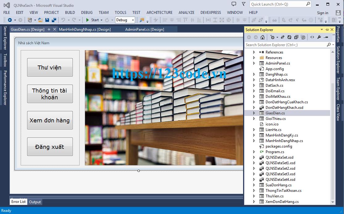 Báo cáo môn học phát triển ứng dụng quản lý nhà sách c#