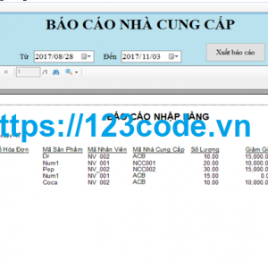 Báo cáo môn lập trình cơ sở dữ liệu quản lý doanh thu cửa hàng c#