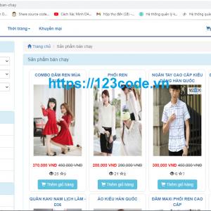 Share code website bán hàng thời trang php - CodeIgniter có video HD và demo