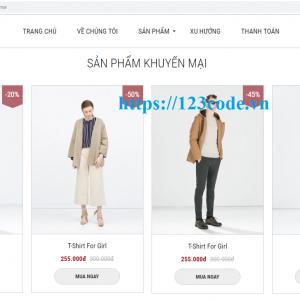 Share code website bán hàng thời trang php thuần có video hướng dẫn cài đặt