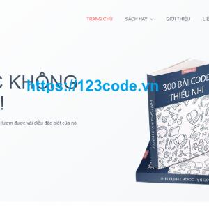 Share code website thương mại điện tử bán sách online wordpress miễn phí