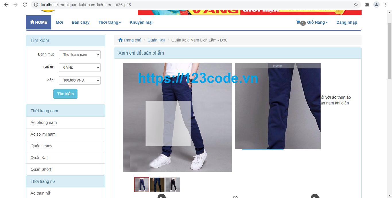Share source code website bán hàng quần áo online php thuần full chức năng