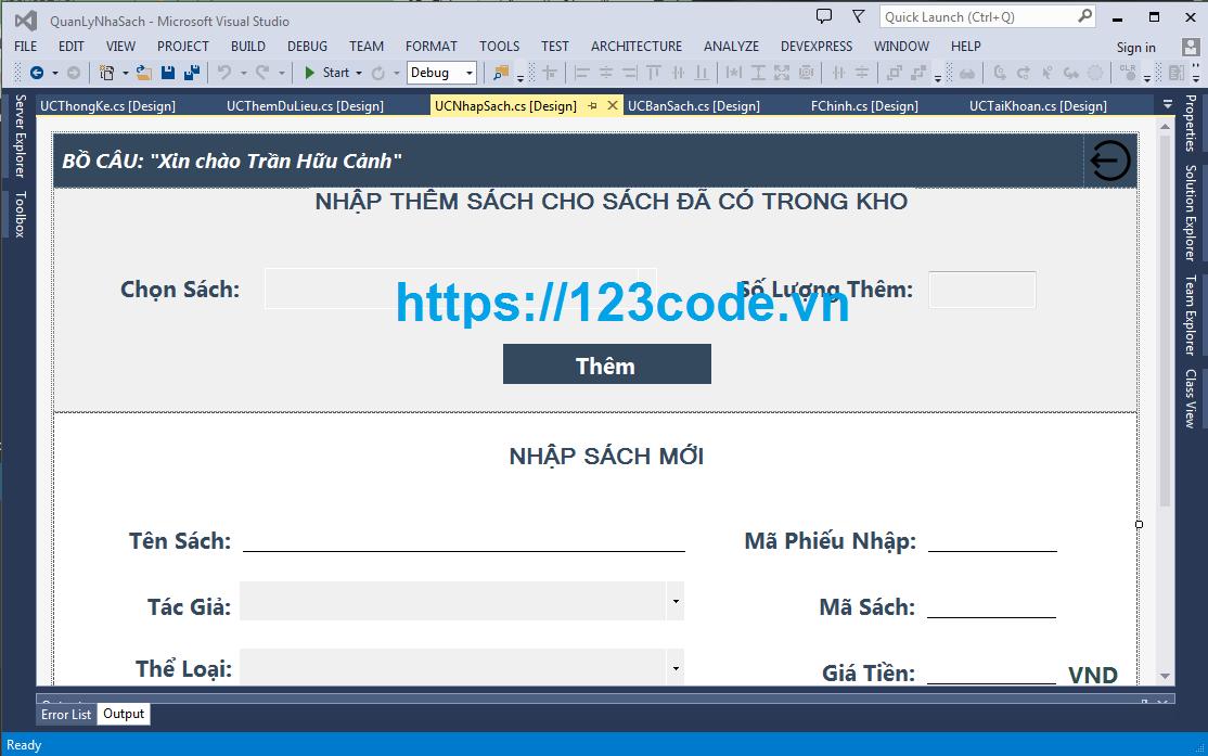 Tải miễn phí code phần mềm quản lý nhà sách code c# kết nối sql